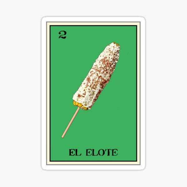 El Elote Loteria Design Pegatina