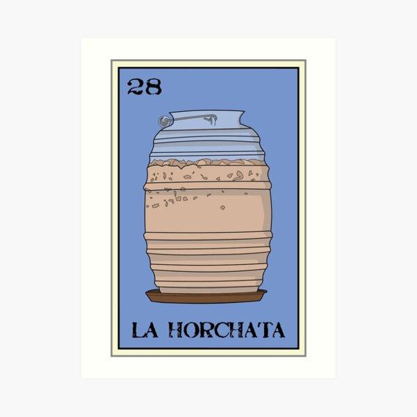 La Horchata Loteria Design Art Print