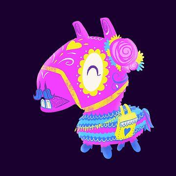 Llama Piñata Muerto - Day of the Dead Sugar Skull by abowersock