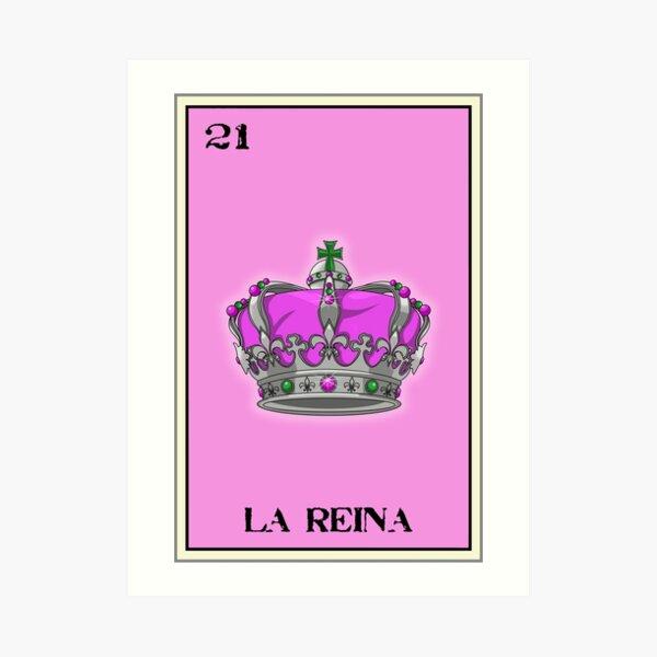 La Reina Loteria Design Art Print