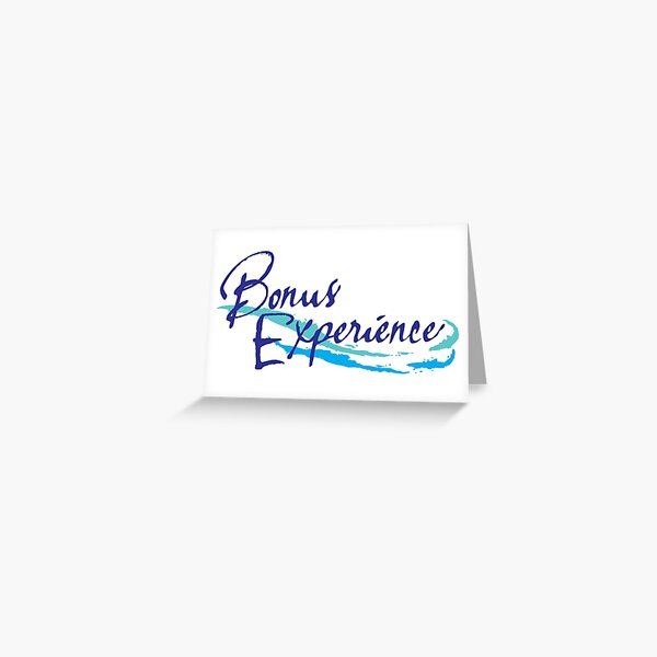 Sparkling Water BXP Logo - Unflavored Greeting Card