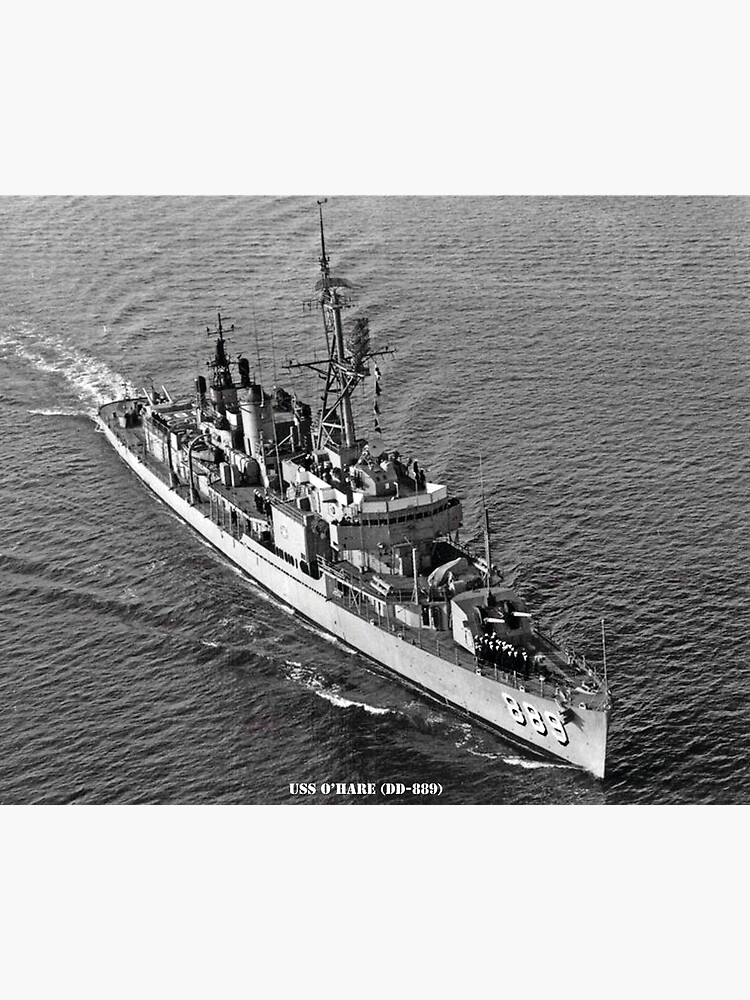 USN Navy Ship Print USS LEARY DD 879 US Naval Destroyer