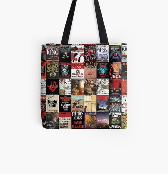 Stephen King Novels All Over Print Tote Bag
