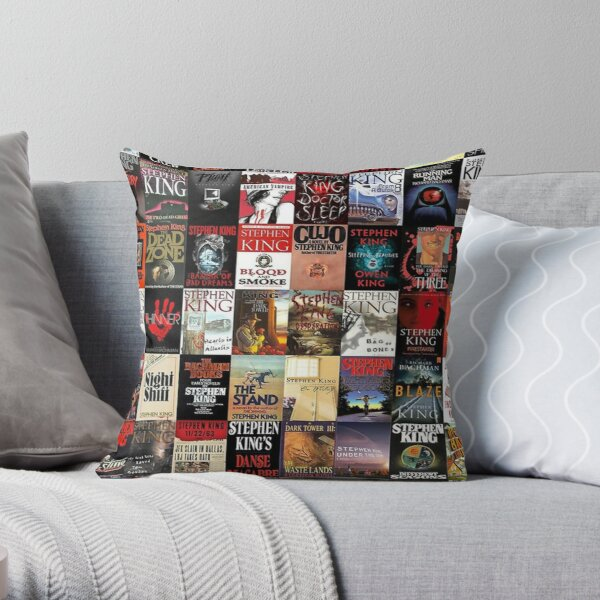 Stephen King Novels Throw Pillow