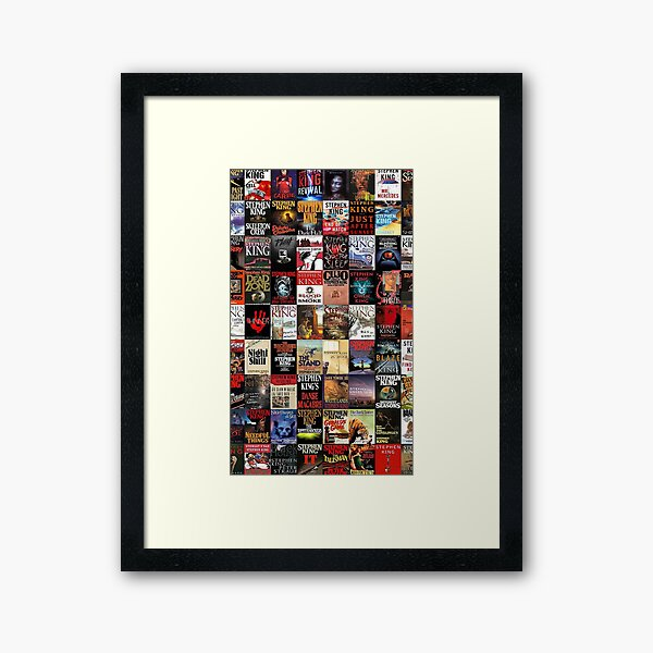 Stephen King Novels Framed Art Print