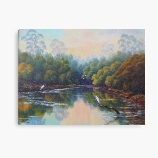Peaceful Lagoon Canvas Print