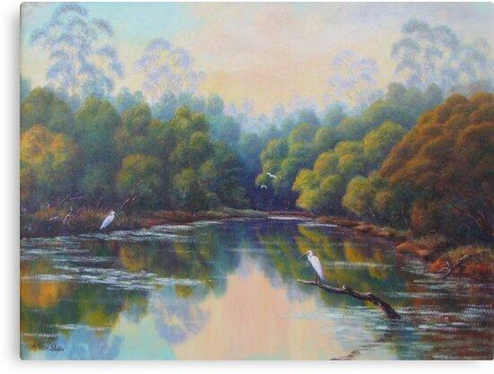 Peaceful Lagoon by Allison  Shaw