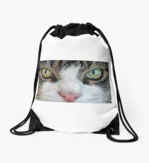 Cat Stare Down Drawstring Bag