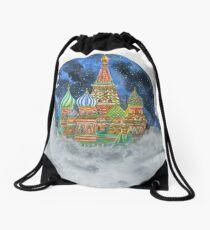 Russian Castle & Flying Castle Drawstring Bag
