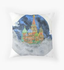 Russian Castle & Flying Castle Throw Pillow