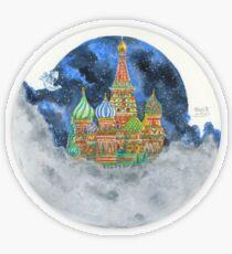 Russian Castle & Flying Castle Transparent Sticker
