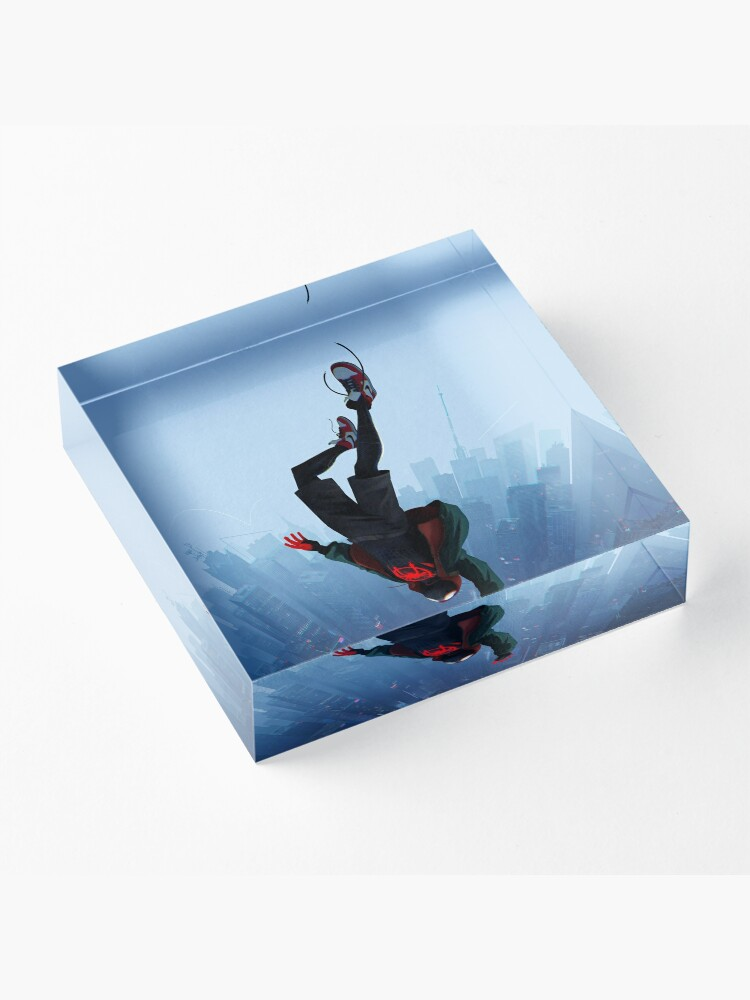 Alternate view of Miles Morales jump Acrylic Block