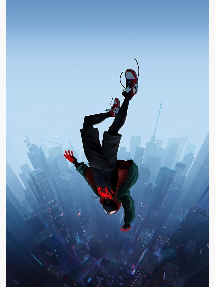 Miles Morales jump by ragsmaroon