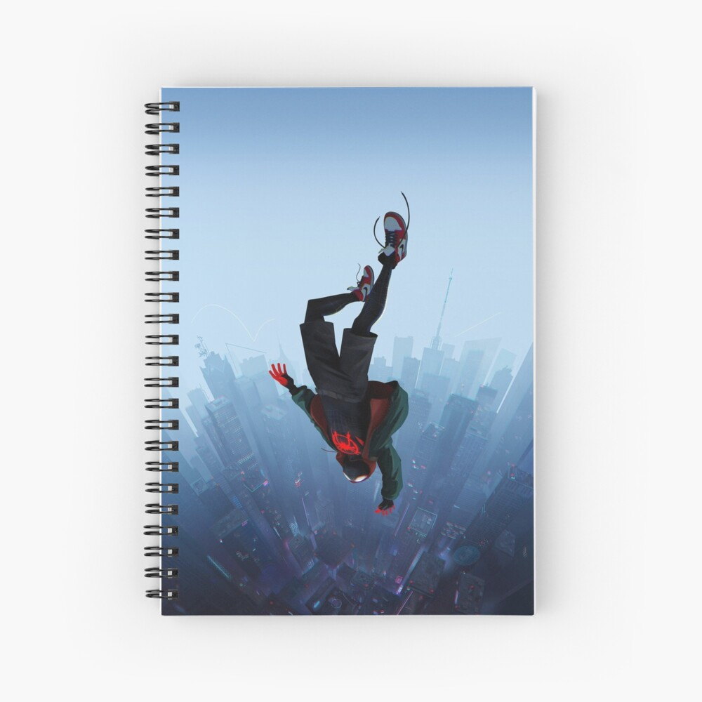 Miles Morales jump Spiral Notebook