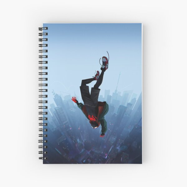 Miles Morales jump Spiral Notebook