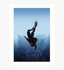 Miles Morales jump Art Print