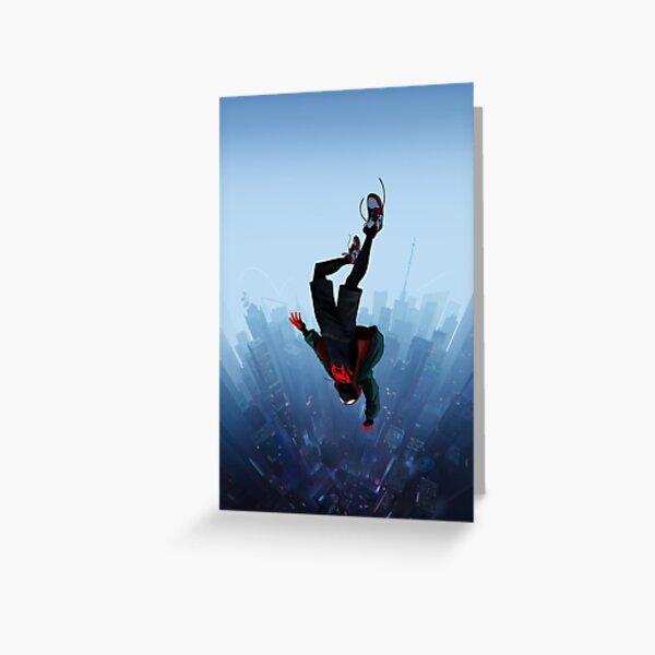 Miles Morales jump Greeting Card