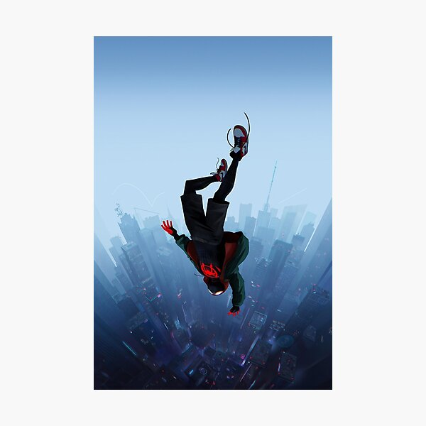 Miles Morales jump Photographic Print
