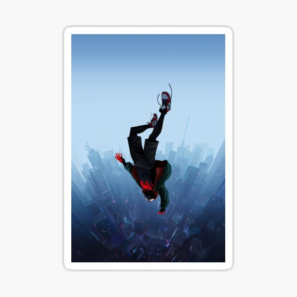 Miles Morales jump Sticker