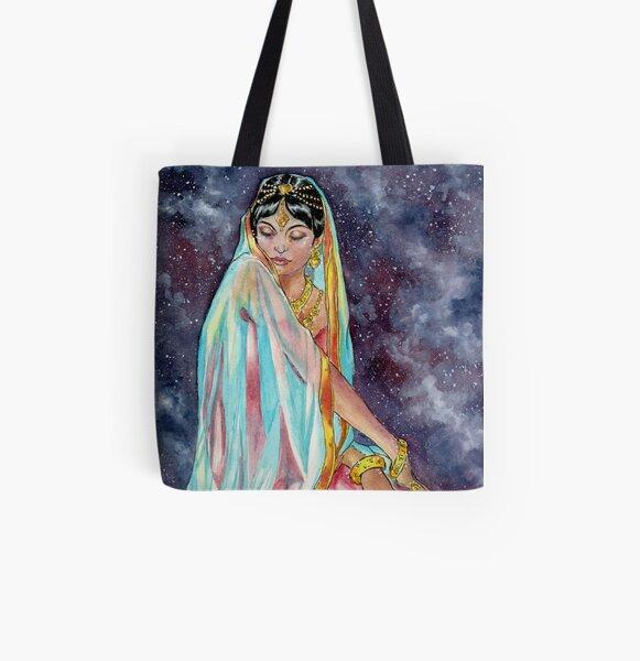Shahrazade at Night All Over Print Tote Bag