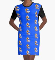 Narzissen-Trio auf Royal Blue Background T-Shirt Kleid