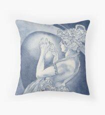 Indigo Mucha Star Throw Pillow