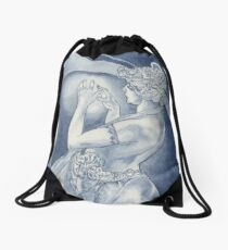 Indigo Mucha Star Drawstring Bag