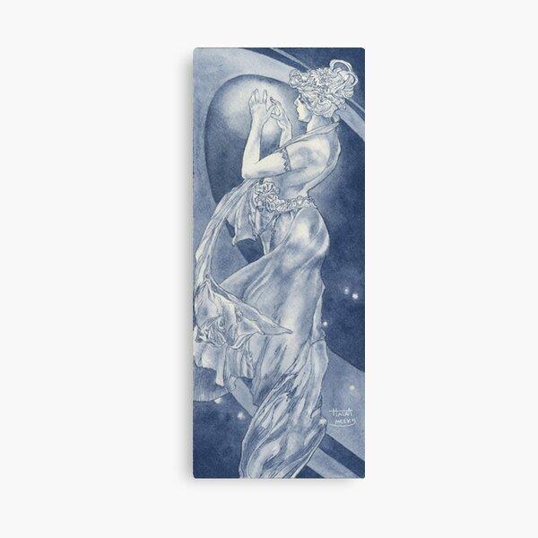 Indigo Mucha Star Canvas Print