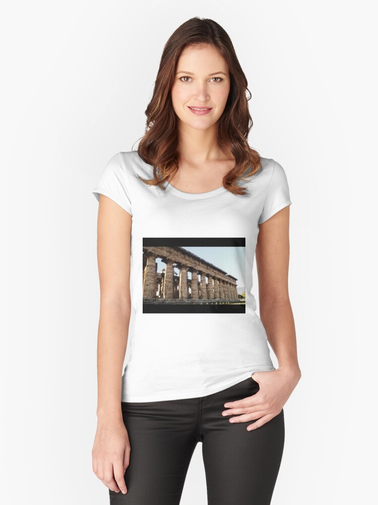 paestum Women's Fitted Scoop T-Shirt Front
