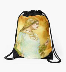 Lady Reading Drawstring Bag