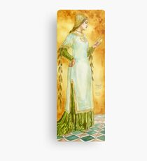 Lady Reading Metal Print