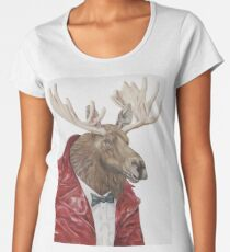 Moose in Leather Women's Premium T-Shirt