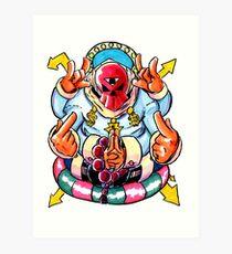 Dollazar - The God of Money Art Print