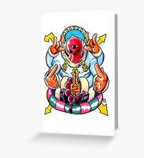 Dollazar - The God of Money Greeting Card