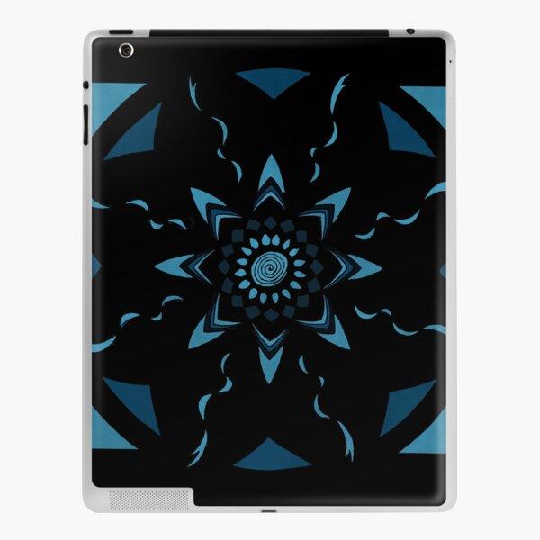 Black and Blue Mandala Design iPad Skin