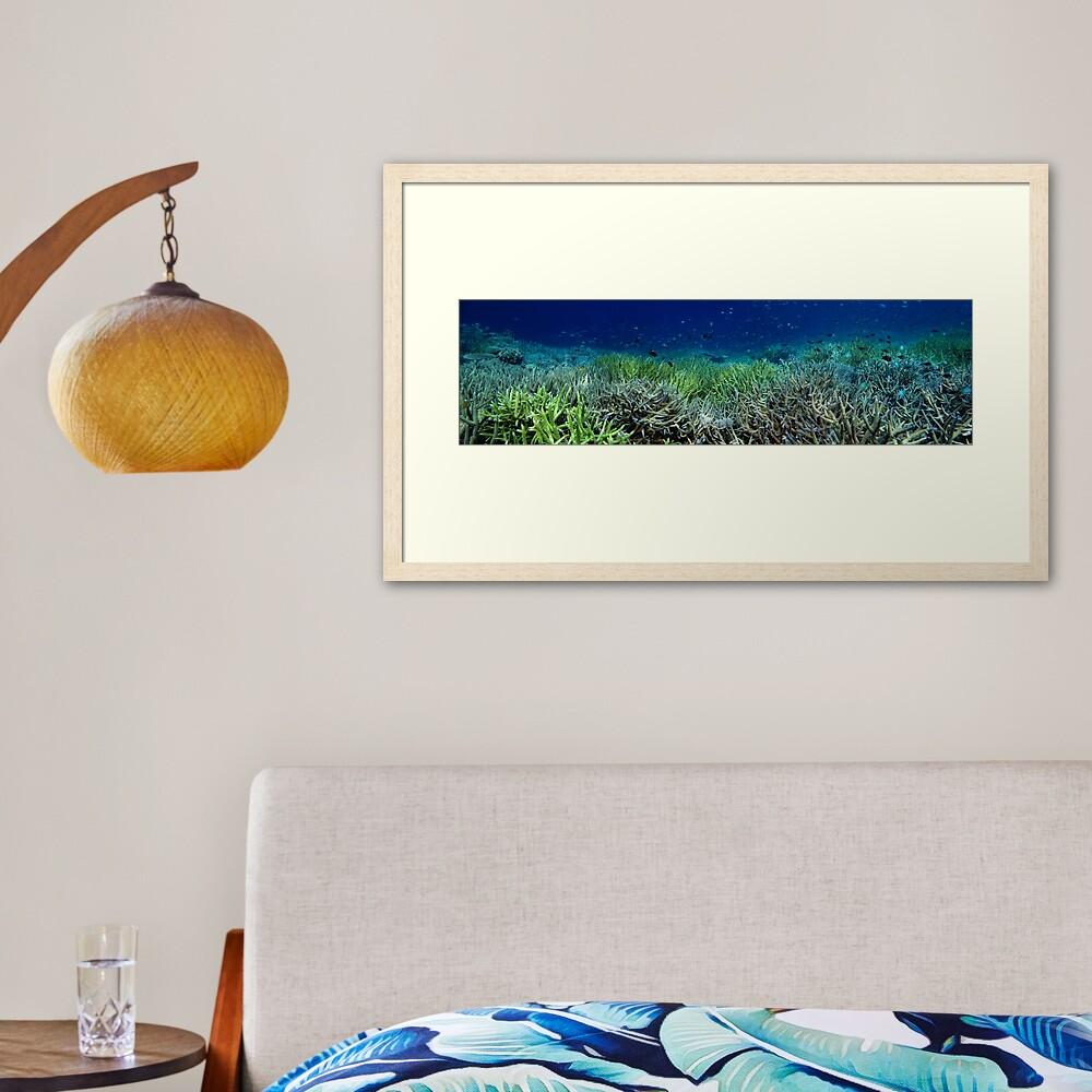 Reef Flat at Kamatal Framed Art Print