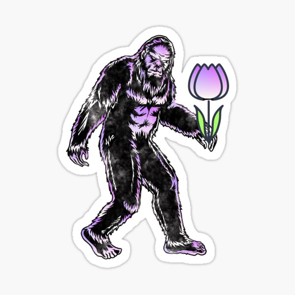 Big Foot with Tulip - Funny  Easter   Sticker
