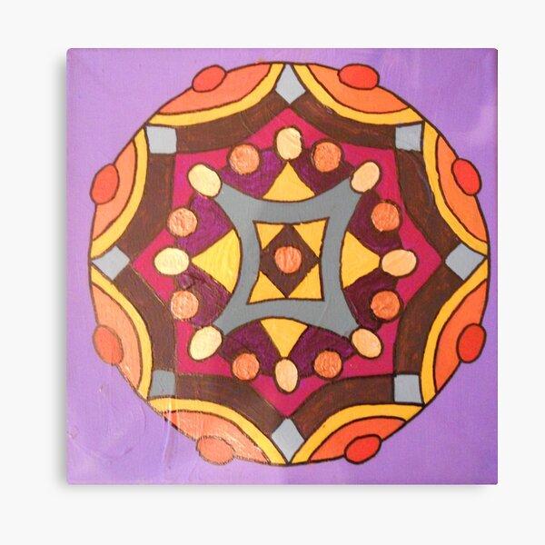 handpainted mandala Canvas Print