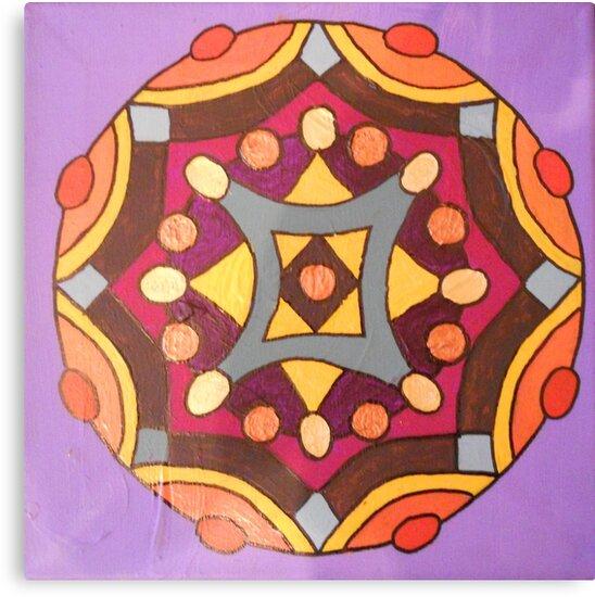 handpainted mandala by danielasabina