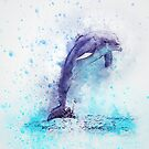 Dolphin Illustration by Fjfichman