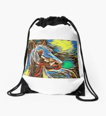 Illustration Drawstring Bag