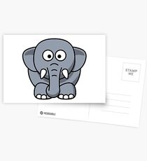 Elephant Illustration Postcards