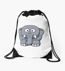 Elephant Illustration Drawstring Bag