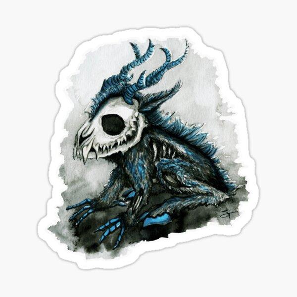 Wendigo Baby Cryptid Monster Sticker