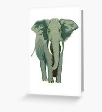 Elephant Full Illustration Greeting Card