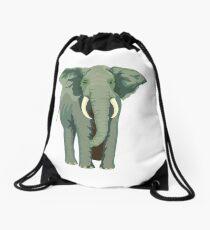 Elephant Full Illustration Drawstring Bag
