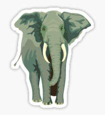 Elephant Full Illustration Sticker