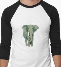 Elephant Full Illustration Men's Baseball ¾ T-Shirt