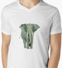 Elephant Full Illustration Men's V-Neck T-Shirt