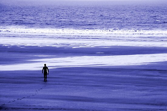 The Lone Surfer 2 by John Wallace